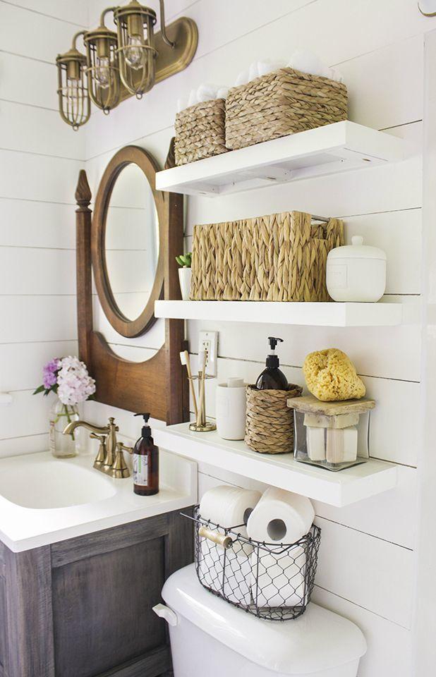 cute 3 tier bathroom shelf layout-Modern 3 Tier Bathroom Shelf Design