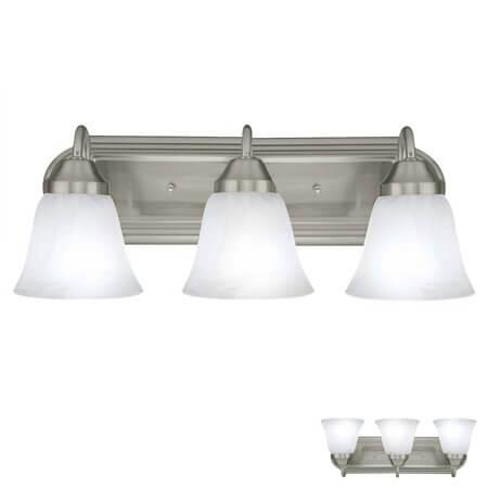 Bathroom Vanity Light Fixtures Brushed Nickel