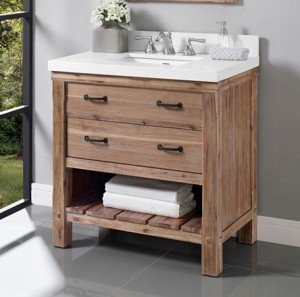 Bathroom Vanity With Open Shelf On Bottom