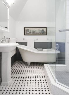 Black And White Bathroom Floor Tile Designs Bathroom Design Ideas
