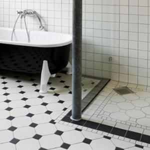 black and white bathroom floor tile designs - home sweet