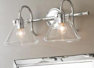 Brushed Nickel Bathroom Light