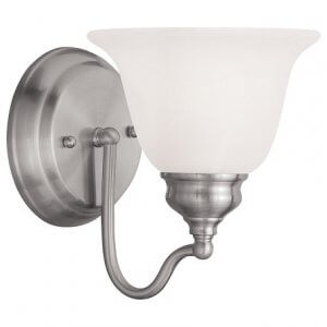 Brushed Nickel Bathroom Wall Light Fixtures