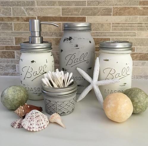 Lovely Mason Jar Bathroom Set Inspiration