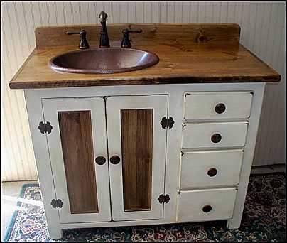 Rustic Vintage Bathroom Vanity