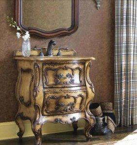 Small Vintage Bathroom Vanity
