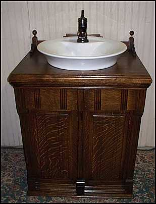 Small Vintage Bathroom Vanity
