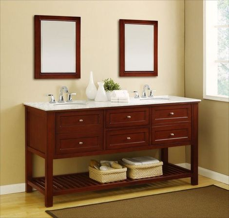 Two Sink Bathroom Cabinet