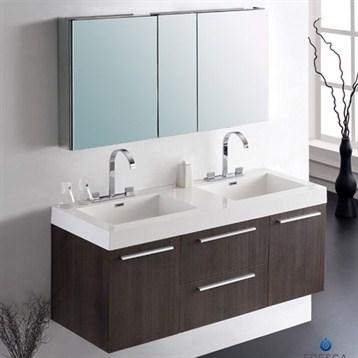 Two Sink Bathroom Cabinet