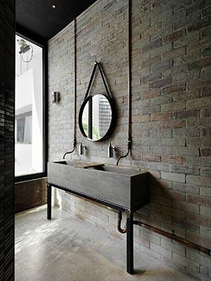 Vintage Industrial Bathroom Vanity