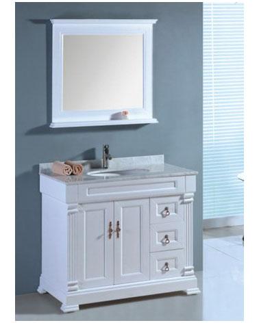 Vintage White Bathroom Vanity
