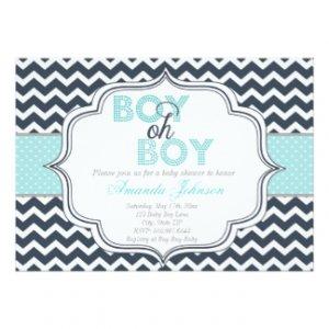 Baby Boy Baby Shower Invitations