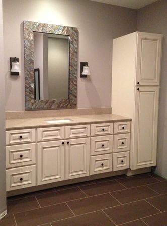 Beautiful Bathroom Linen Cabinets Portrait