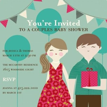 Coed Baby Shower Invitations