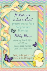 Customized Baby Shower Invitations