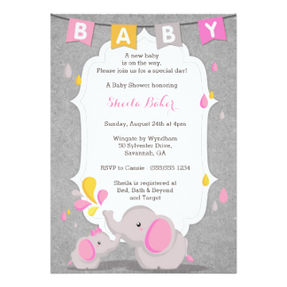 Elephant Baby Shower Invitations Bathroom Design Ideas Gallery