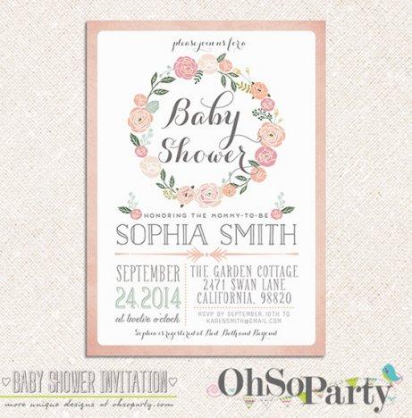 Etsy Baby Shower Invitations