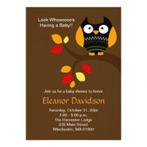 Halloween Baby Shower Invitations