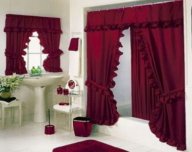 Incredible Bathroom Window Curtain Sets Inspiration