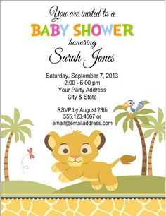 Lion King Baby Shower Invitations Bathroom Design Ideas Gallery