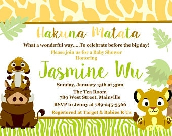 Exhilarating image within printable lion king baby shower invitations