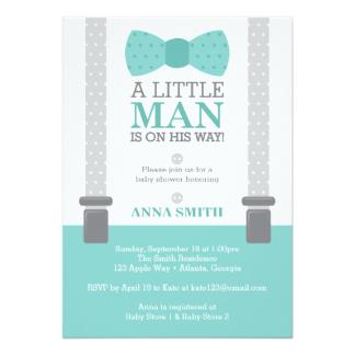 Little Man Baby Shower Invitations