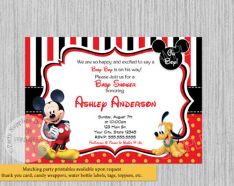 Mickey mouse baby shower invitations bathroom design ideas gallery mickey mouse baby shower invitations filmwisefo