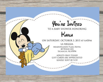 Mickey Mouse Baby Shower Invitations Bathroom Design Ideas Gallery