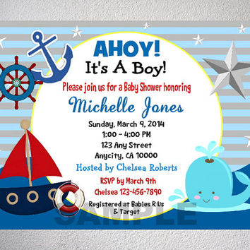 nautical baby shower invitations bathroom design ideas gallery