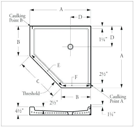 Shower Pan Sizes Bathroom Design Ideas Gallery Image And Wallpaper
