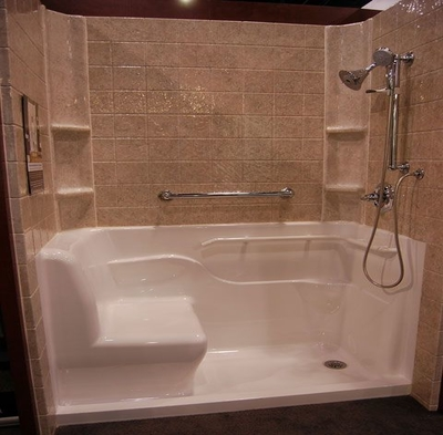 Shower Stalls With Seat Bathroom Design Ideas Gallery Image And