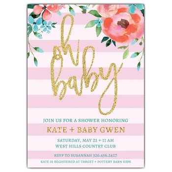 Wording For Baby Shower Invitations