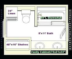 8×8 bathroom layout with shower