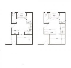 8x8 Bathroom Layout