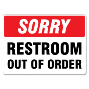 Bathroom Out Of Order Signs Bathroom Design Ideas Gallery Image