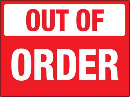 Bathroom Out Of Order Signs