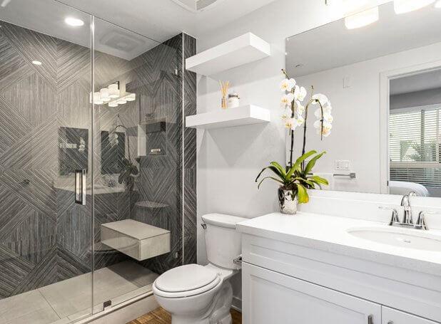 Geometrically Gorgeous bathroom