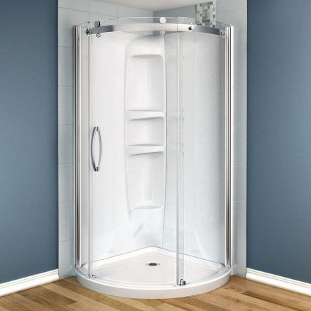 Removing Shower Doors Replace With Curtain Home Sweet