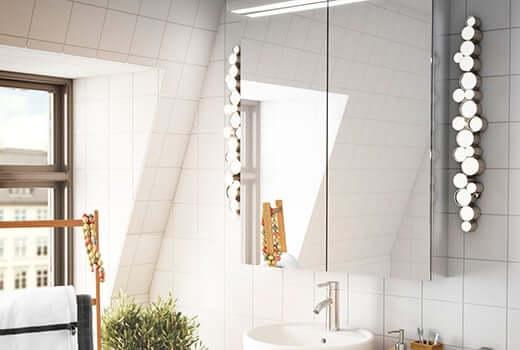 Bathroom wall lights and ceiling lights