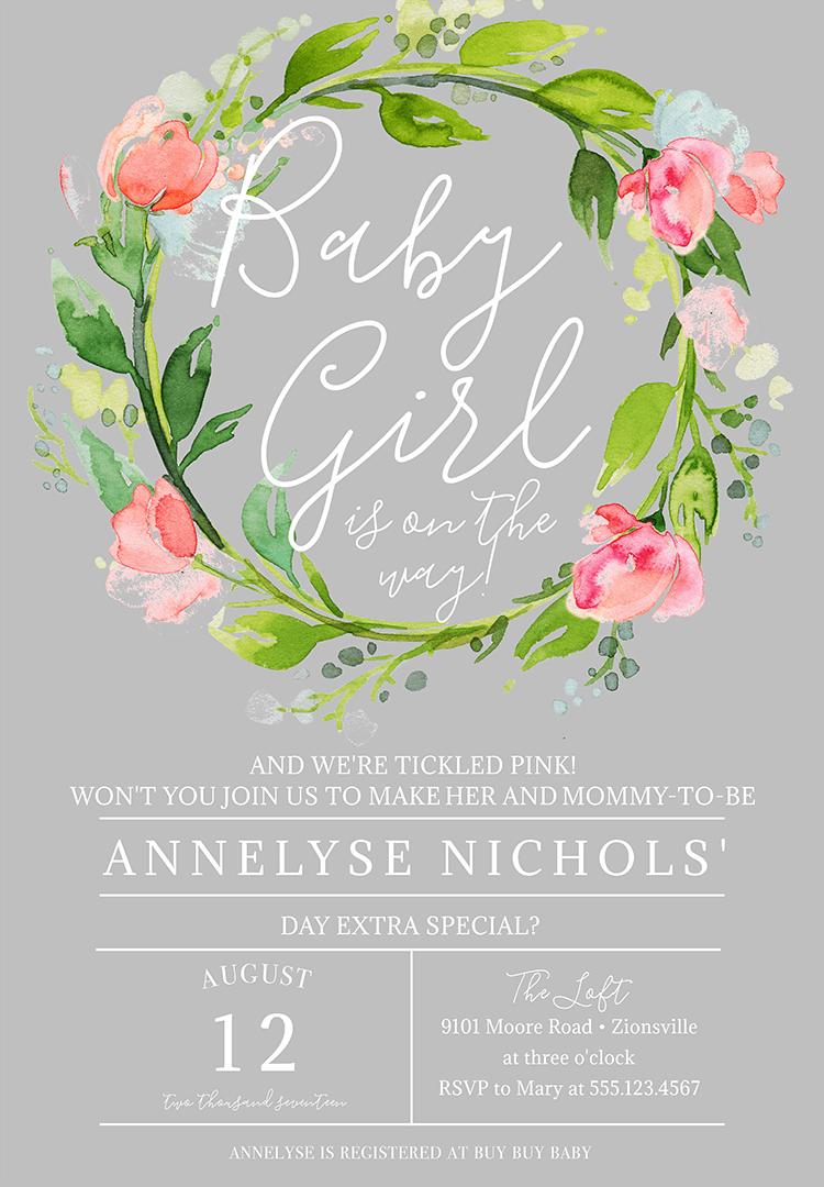Baby Shower Invitation Wording for girl