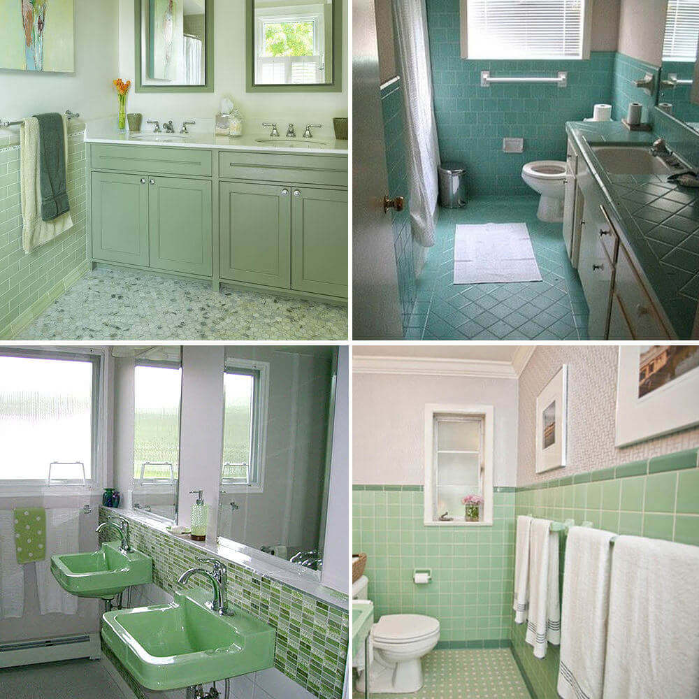 Colored Green-Themed Bathroom