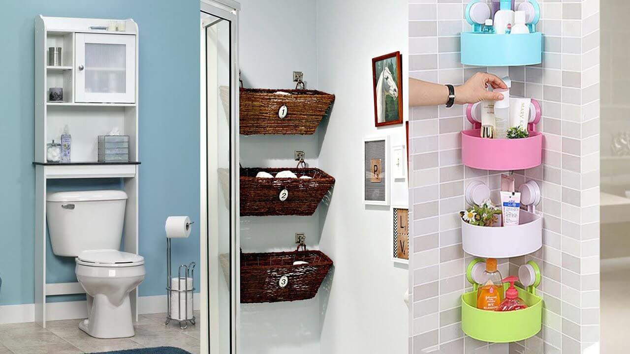 For storage in the bathroom