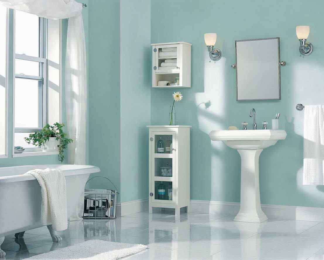 Light Blue Color Bathroom
