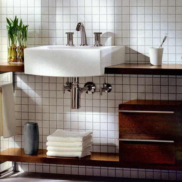 Modern Japanese Bathroom Decor Plan