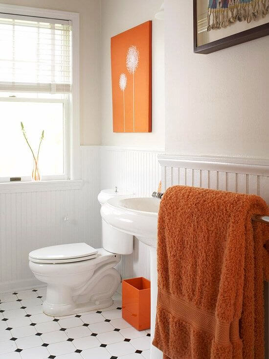 Orange Options for the Bathroom