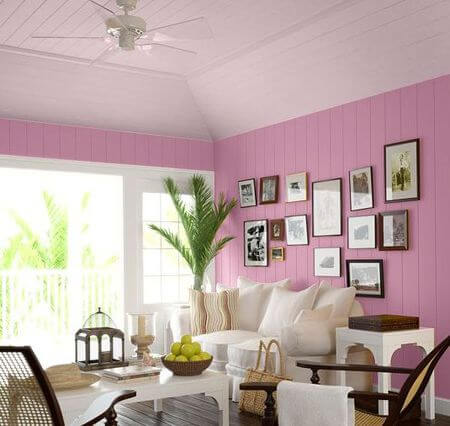 Pastel-colored ceiling paint