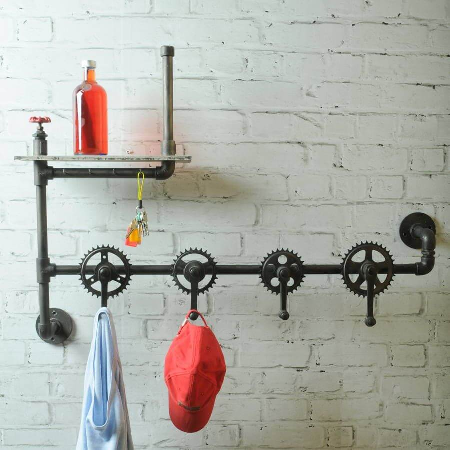 Recycle unused pipes for hangers.