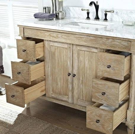 Rustic Oak Bathroom Cabinets