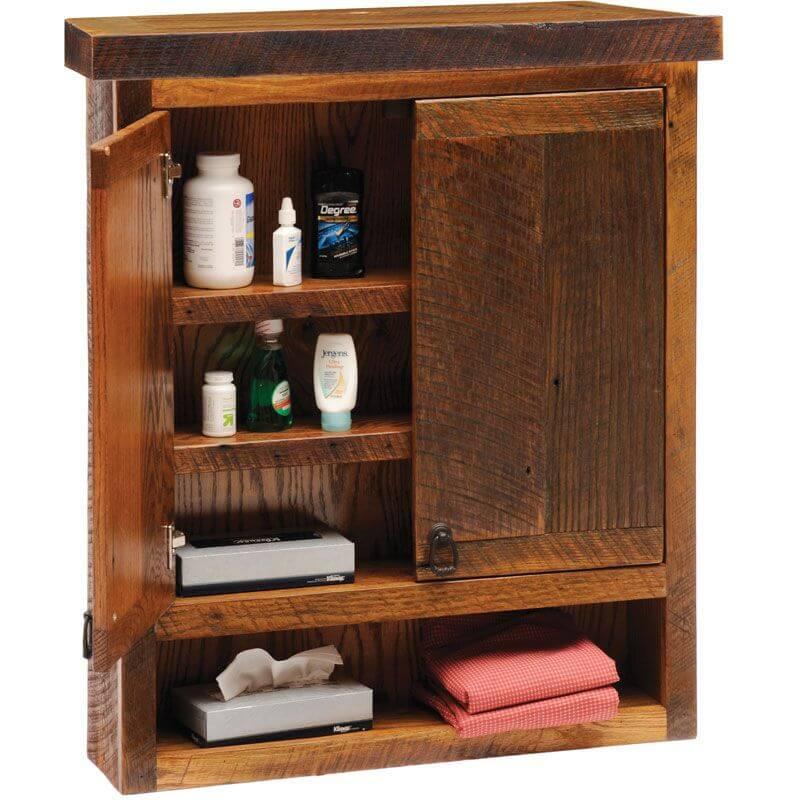 Rustic bathroom wall cabinets