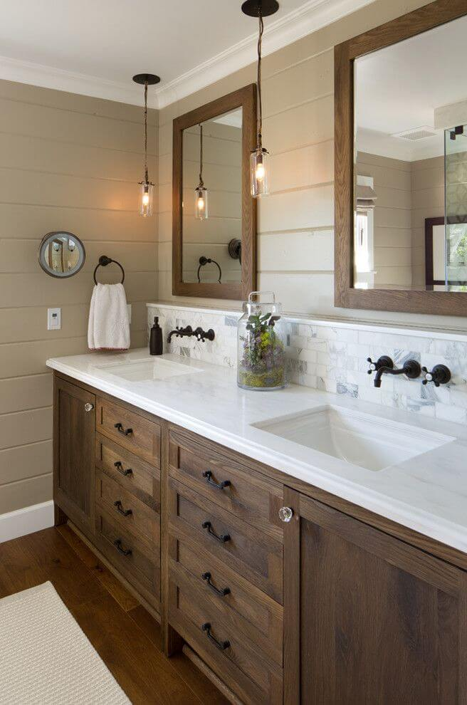 Rustic cabinets for bathroom